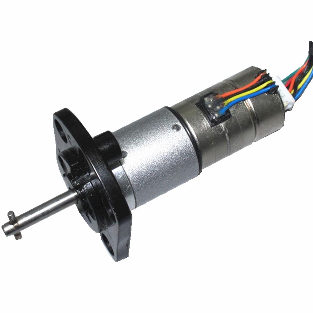 Desmontar lunas micro planetario reducción motor paso a paso 12V dos fases cuatro cables todo metal caja de cambios de tres etapas