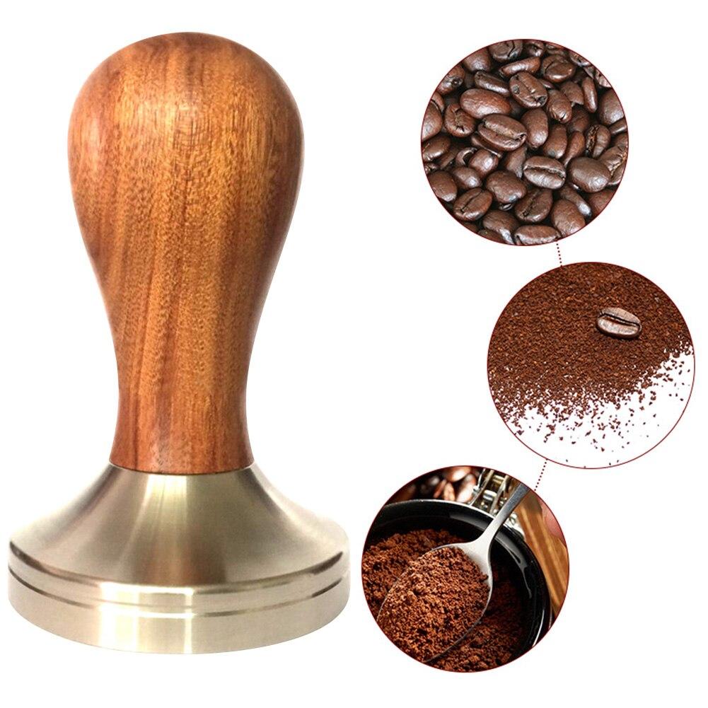 سدادة قهوة مقبض خشبي باريستا ماكينة إسبريسو طاحونة 51 مللي متر للقهوة والاسبريسو مسحوق المطرقة-35