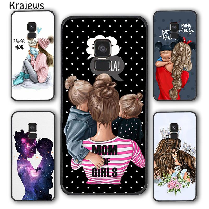 Krajews Beautiful Mother Daughter Son Phone Case Cover For Samsung Galaxy S6 S7 edge S8 S9 S10 E lit