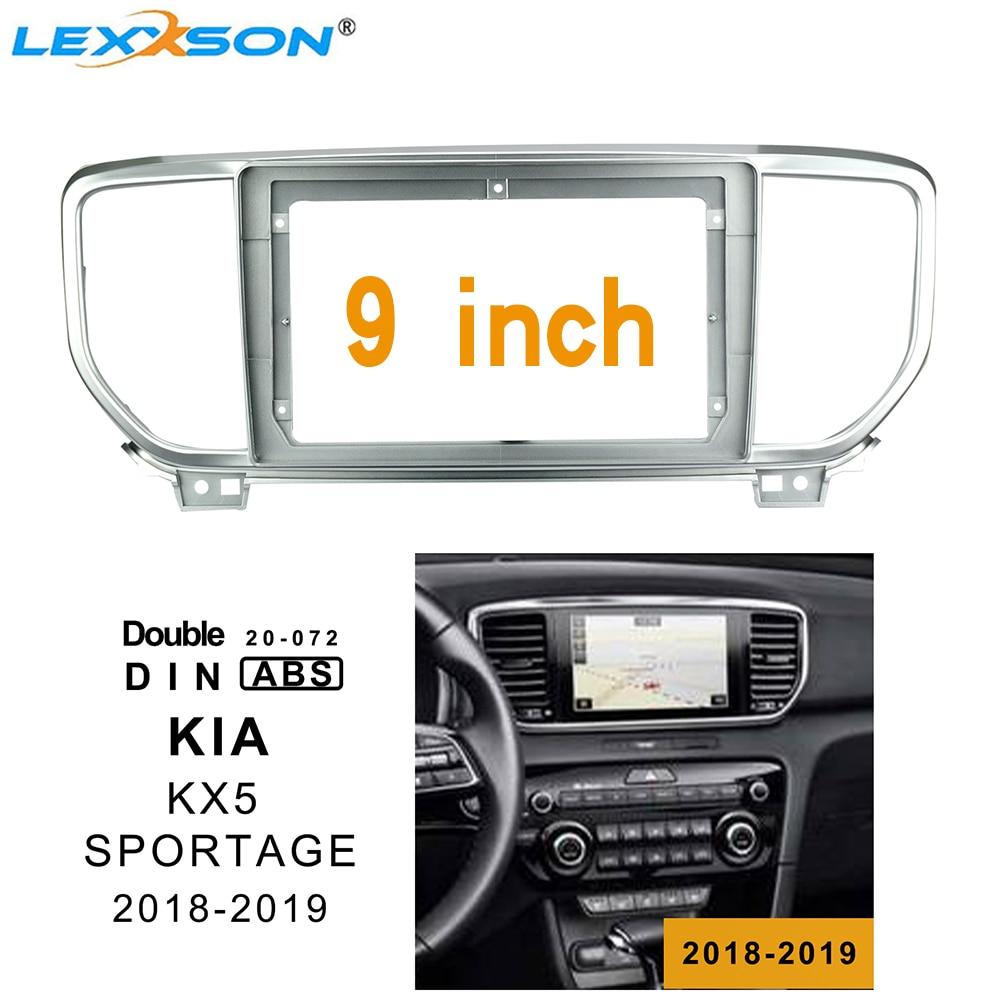 9 Inch 2din Car Fascia For Kia KX5 SPORTAGE 2018-2019 Stereo Double Din Dvd Frame Install Panel Dash Mount Installation