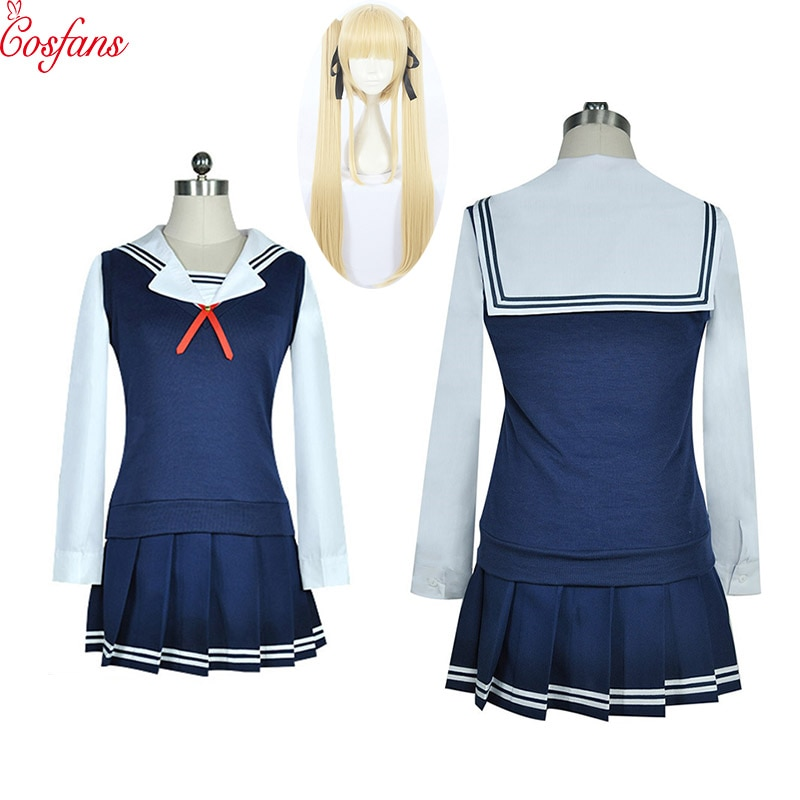 Saekano cómo criar a una novia aburrida Eriri Paulina suéteres Sailor Suit uniforme escolar vestido Cosplay disfraces peluca