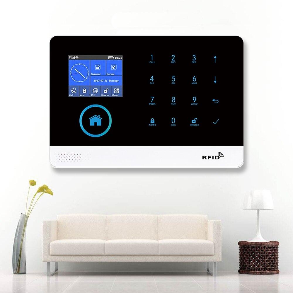 Wireless Tuya APP SIM GSM Home Wireless Home Security With Fire Smoke Detector Sensor kit APP Remote Control Smart Life PG103 enlarge