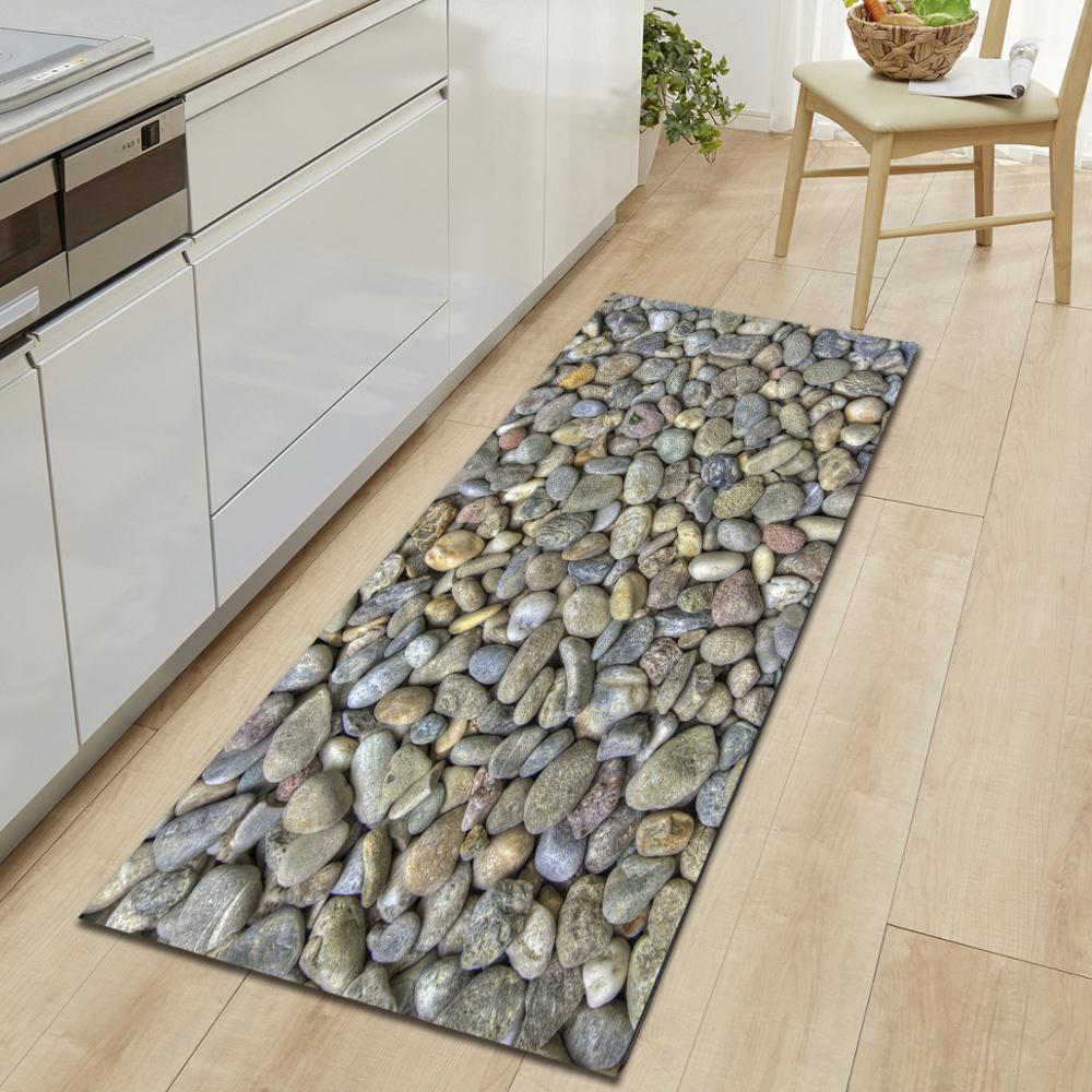 10 Models Chic 3D rug Pebbles Printing Carpet Hallway Doormat Anti-Slip Bathroom Absorb Water Carpet Kitchen Mat/Rug Free shippi