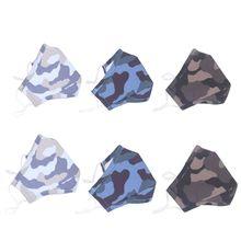 3 pièces filtre réutilisable masques dextérieur lavable masque anti-poussière Camouflage Sports de plein air masques Kit unisexe pour les enfants adultes