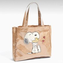 Summer Women Bag Cartoon print ZA Clear Women Tote Bag Large Capacity Shoulder Bag Women PVC Plastic Bags Beach Bag