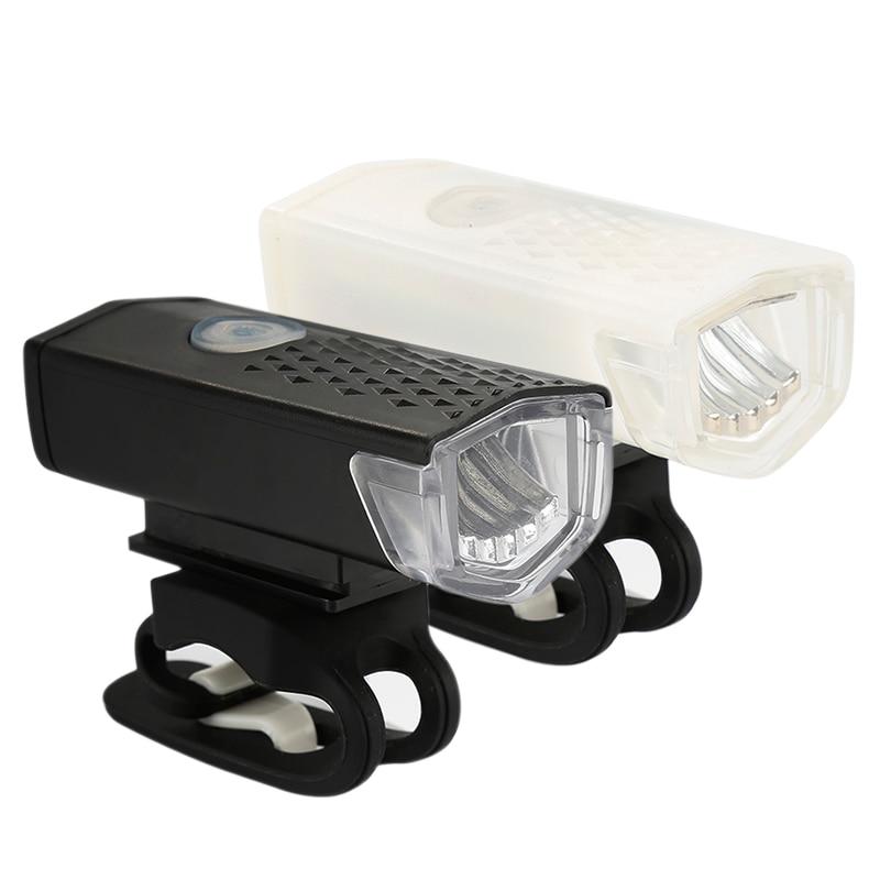 Luz de bicicleta accesorios de bicicleta USB 300 lúmenes 3 modos recargables luces de ciclismo Luz trasera LED linterna para la luz de la bicicleta