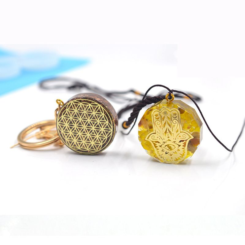 2021 New Faceted Organ Round Pendant Silicone Resin Mold Keychain Jewelry Making Tools