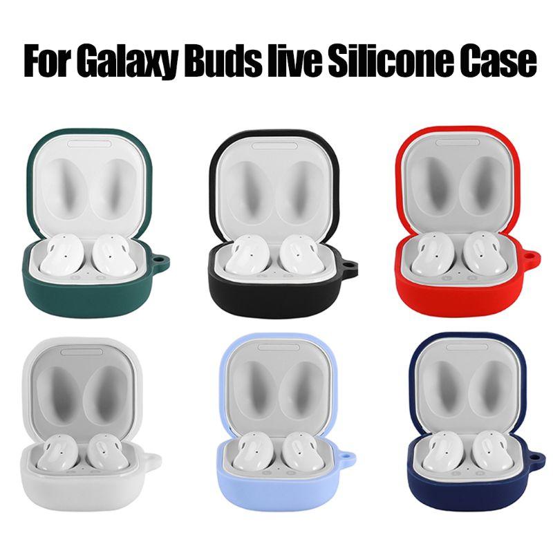 Anti-queda macio lavável à prova de poeira capa protetora caso de silicone para samsung galaxy buds fone de ouvido sem fio bluetooth ao vivo