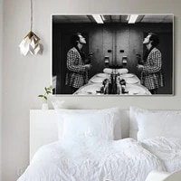 prints mirror hd painting wall artwork harry stylesmodular canvas poster picture modern home decoration for bedside background