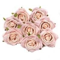 Roses artificielles en soie  7cm  20 pieces  fausses fleurs  pour un mariage  pour decorer la maison  pour une couronne  pour un scrapbooking  bon marche