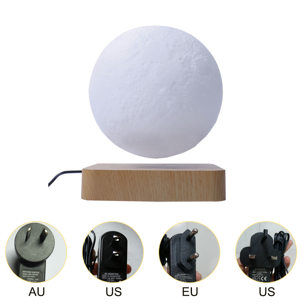 NEW design Creative 3D Magnetic Levitation Moon Lamp Night Light Rotating Led Moon Floating Lamp Home Decoration Holiday drops enlarge