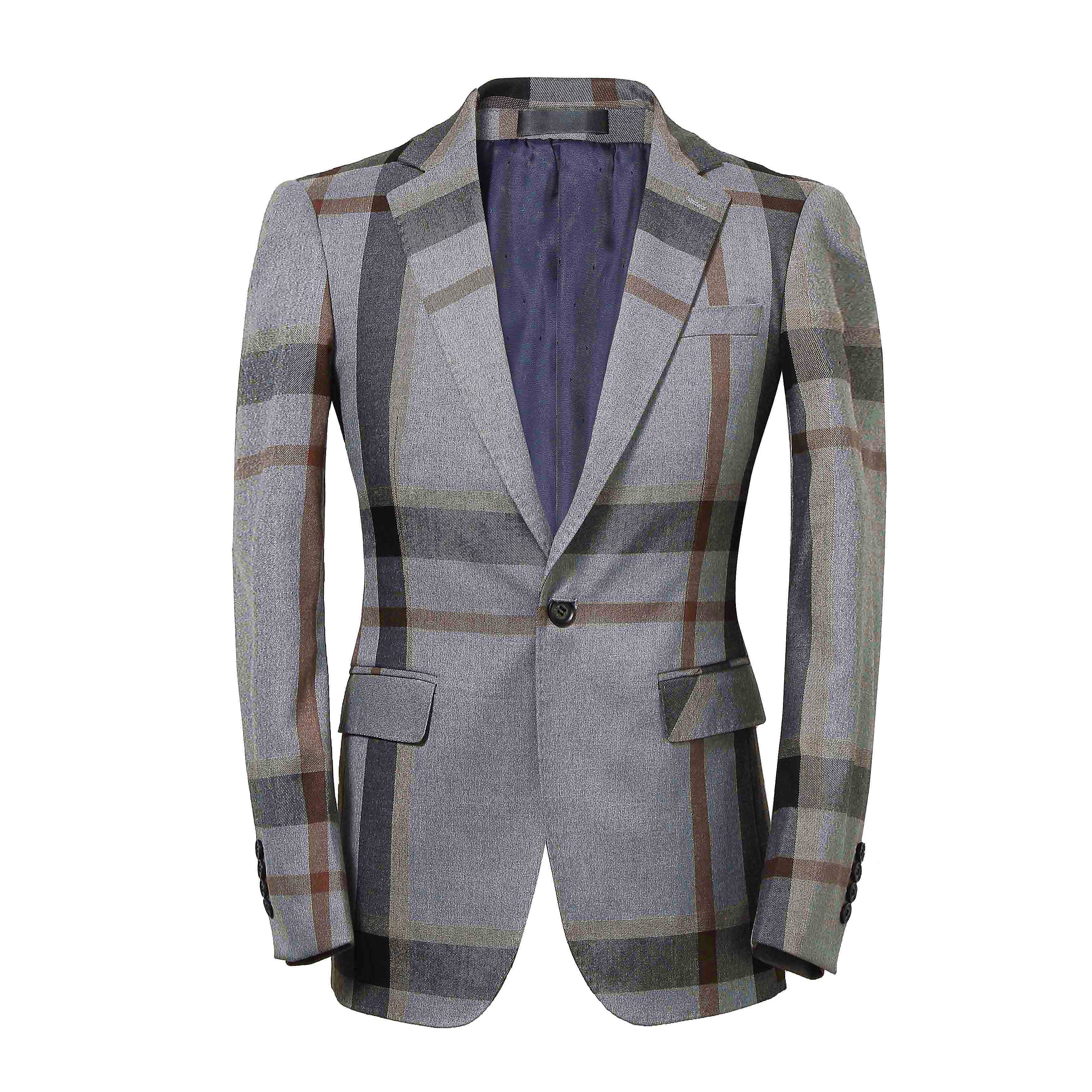 Corden vinnie marca 2020 moda xadrez blazer terno cinza fino jaqueta masculina plus size casual roupas de festa