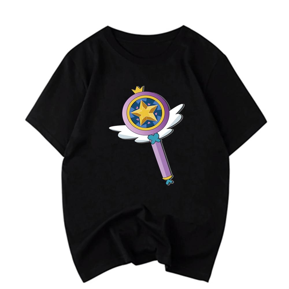 Camiseta Unisex de manga corta, Sakura Cardcaptor, camiseta Harajuku con cuello redondo, camiseta informal de verano en negro para mujer, ropa de calle para hombre