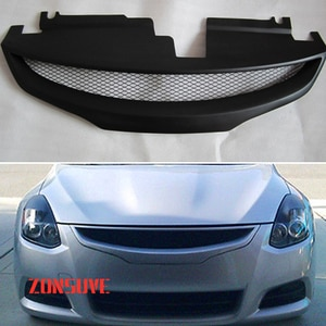 Use For Nissan Altima Coupe 2010--2013 Year Carbon Fibre Refitt Front Center Racing Grille Cover Accessorie Body Kit Zonsuve