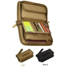 Tactical Molle Wallet Card Holder Pouch Outdoor Travel Passport Holster Case 6'' Cellphone Folded Money Handbag Card Organizer