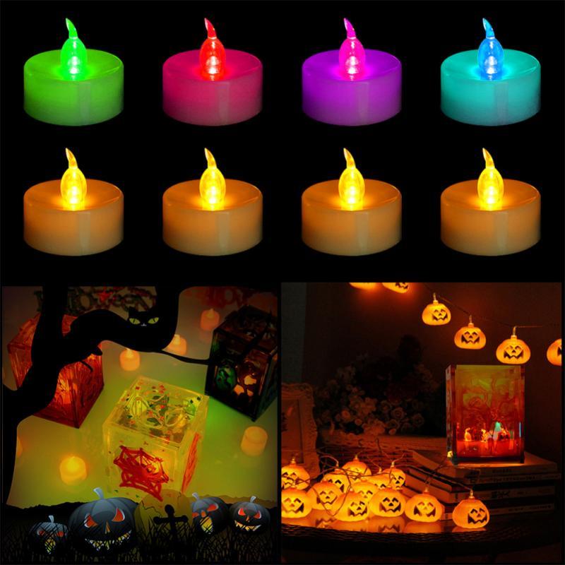 Рождественские декоративные светодиодные свечи, электронные свечи, декоративные реквизиты, электронные свечи, беспламенные Свечи, товары ...