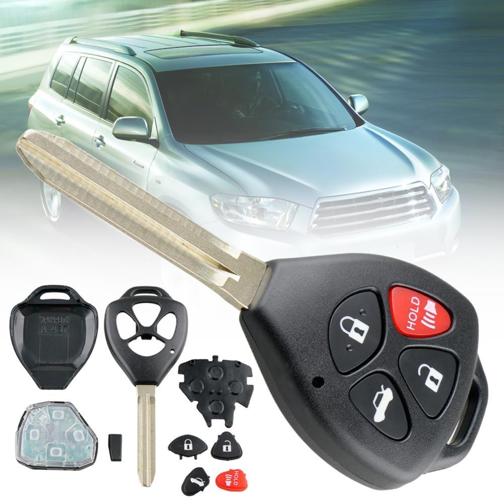 Llave remota de coche 314,4 MHZ 4D67 Chip HYQ12BBY 4 botones para TOYOTA CAMRY 2007 2008 2009 2010 tipo de batería CR2032