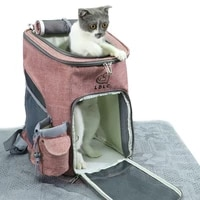 pet carrier backpack airline approved hiking carrying bag for small dogs and cats mesh ventilation windows transporter for cats