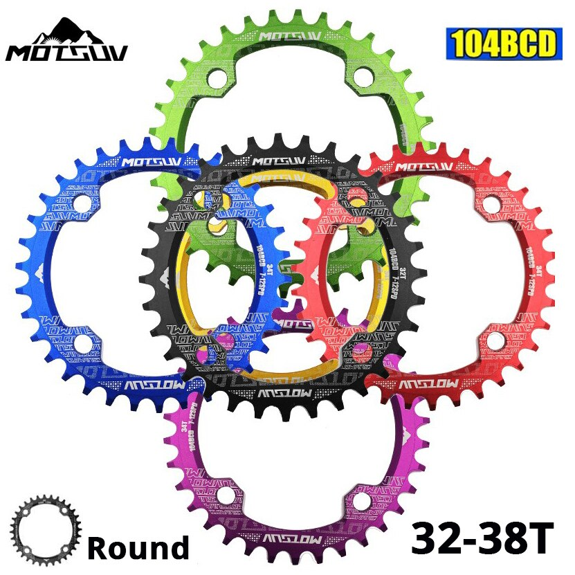 MOTSUV круглая узкая широкая цепь MTB горный велосипед 104BCD 32T 34T 36T 38T коленчатый набор зубчатая пластина части 104 BCD