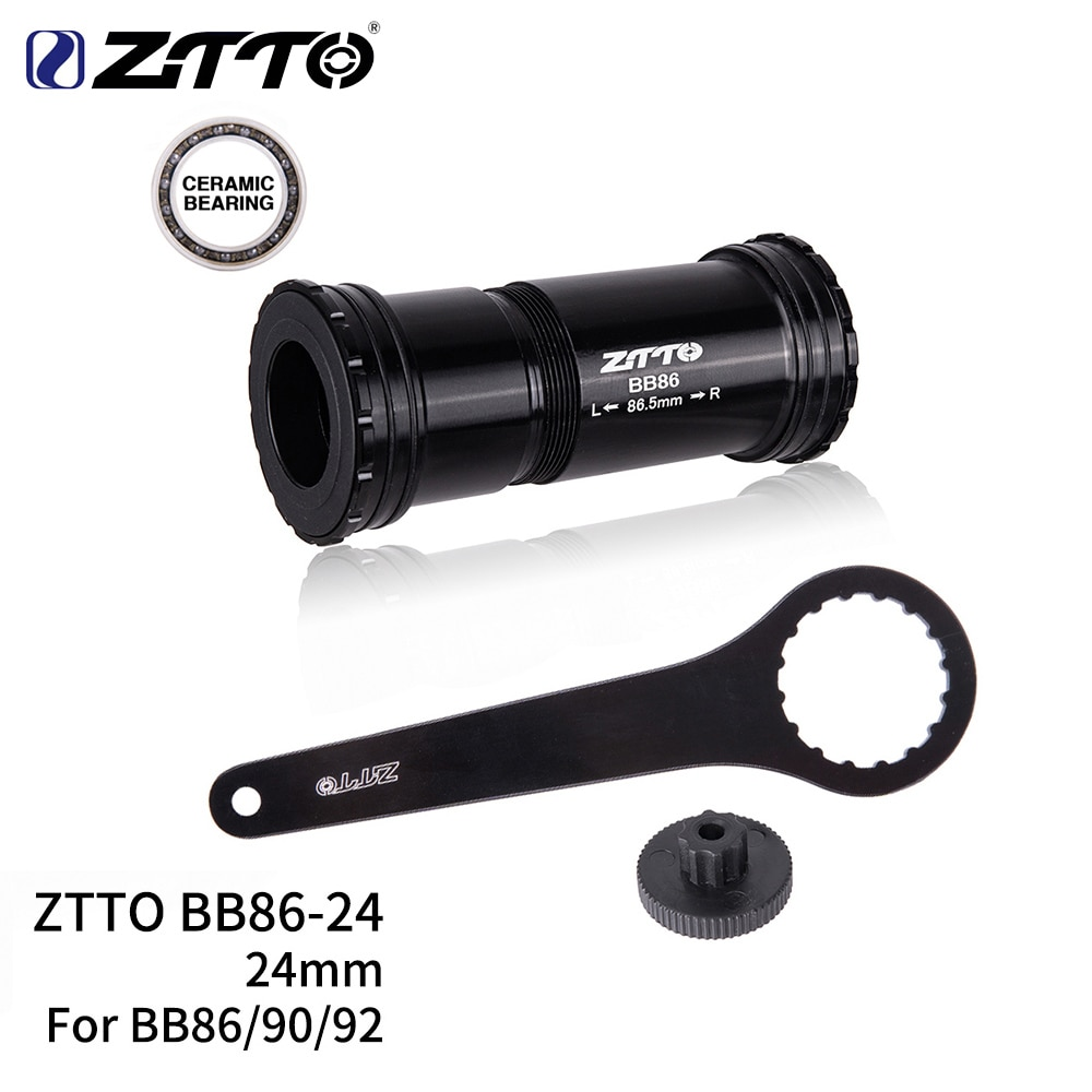 ZTTO MTB BB86 BB90 BB92 Press Fit Bottom Brackets Ceramic Thread lock Mountain Bike Road Bicycle Parts 24mm Crankset chainset