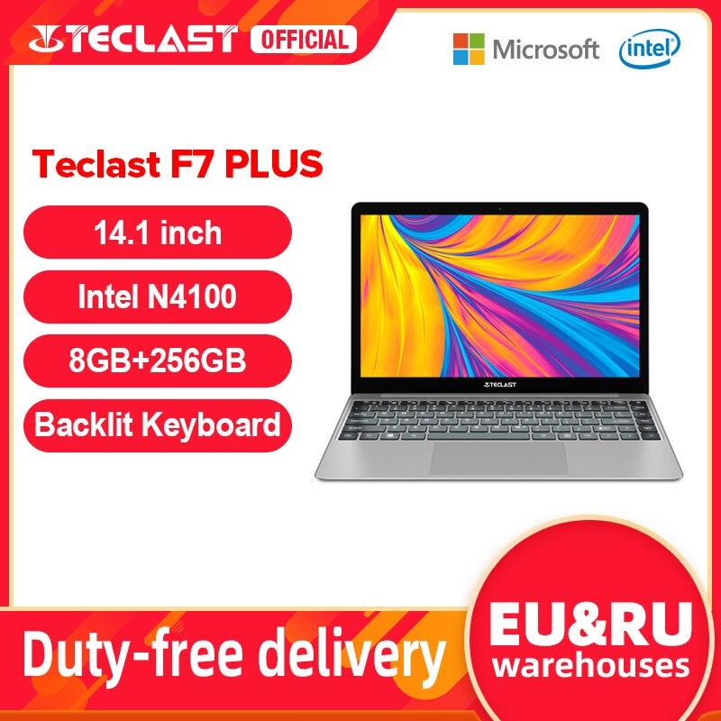 Teclast F7 Plus 14.1'' 8GB/12GB RAM 256GB SSD Laptop FHD 1920 x 1080 Intel Gemini Lake N4100 Windows 10 Backlit Keyboard Notebook