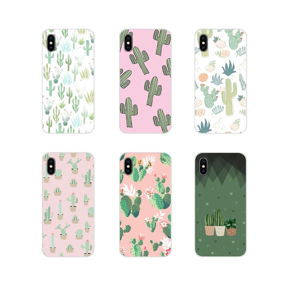 Transparent TPU Skin Case Watercolour Succulents Cacti For Apple iPhone X XR XS 11Pro MAX 4S 5S 5C SE 6S 7 8 Plus ipod touch 5 6