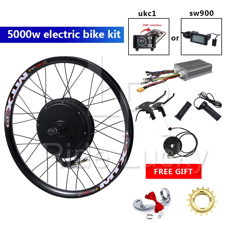 80 KM/H 50H QS 48-72 فولت 5000 واط دراجة كهربائية عدة العجلات الخلفية دراجة كهربائية تحويل عدة مع TFT عرض ebike عدة