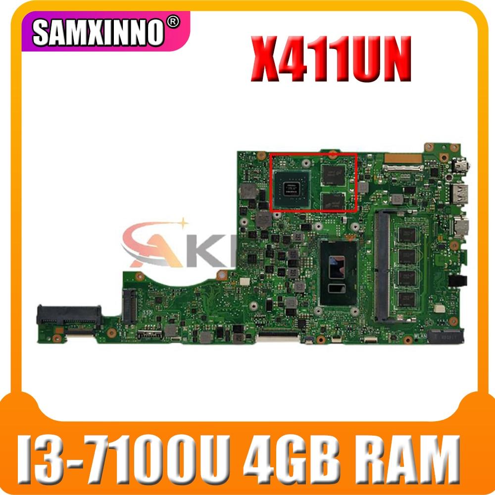 X411UQ ل ASUS X411U X411UA S4200U X411UN X411UR X411URR X411URP X411UF اللوحة المحمول العمل I3-7100U 4GB RAM GT940MX