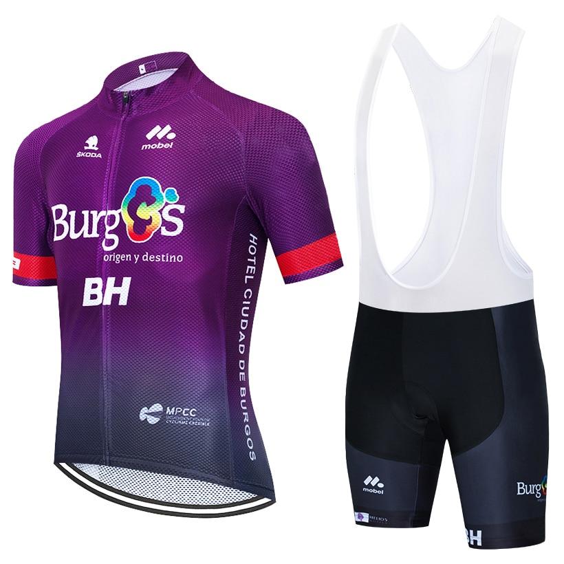 Équipe vêtements de cyclisme BH Burgs jersey 20D vélo pantalon costume hommes été séchage rapide pro vélo chemises Maillot Culotte vêtements