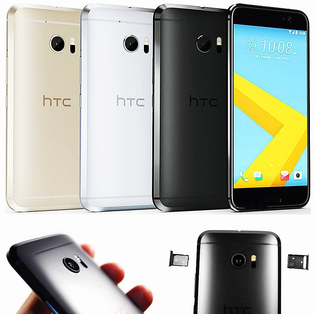 Used original HTC 10 Smartphones 4G LTE 5.2inch Android mobile phones quad core 32G ROM 12MP unlocked cheap cell phones celulars