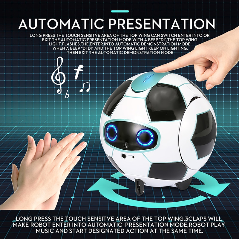Children Smart Talking Robot Football Newest Smart Phone Gesture Induction Robot Football Electronic Pet Childrenchild Gift