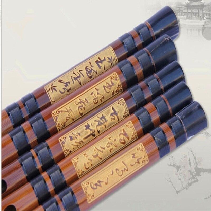 Chinese Flute Transverse Dizi instruments de musique professionnel Flute C D E F G Key Flauta 6 holes flauta de bambu dizi c enlarge