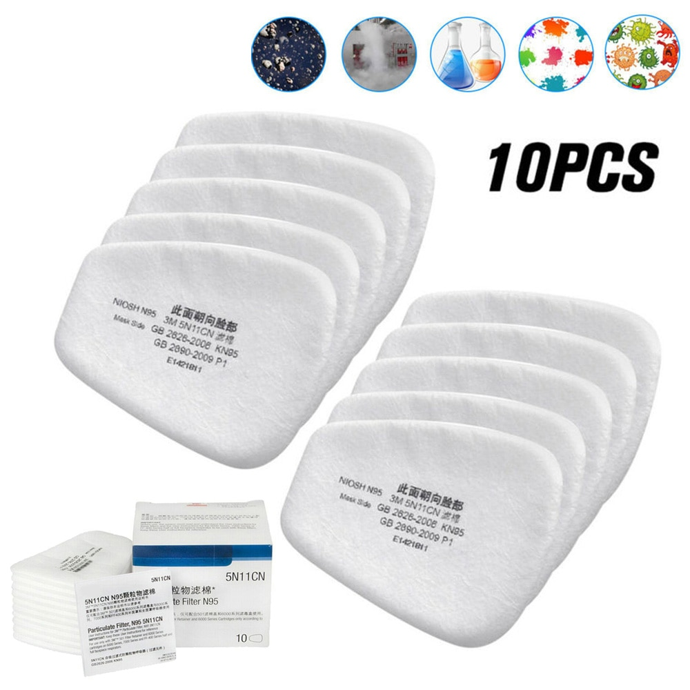 10 штук в штучной упаковке 5N11 фильтр хлопок газовое покрытие спрей краска пыленепроницаемые античастицы волокно белый