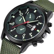 Men's Watches Watch Hour Nylon Strap Date Clock Quartz Analog Army Green Dress Wrist Watches relogio masculinowomen watches #A