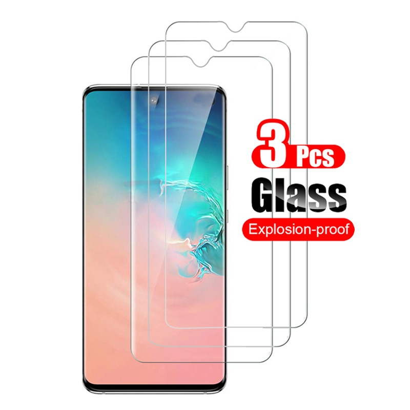3Pcs Tempered Glass Screen Protector For Samsung Galaxy A91 Film Anti-Scratch Toughened Glass For Sa