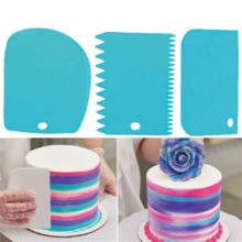 3Pcs/lot Cake Scraper Edge Decorating Cooking Cutters Set Comb & Icing Smoother for Bread Dough Fond