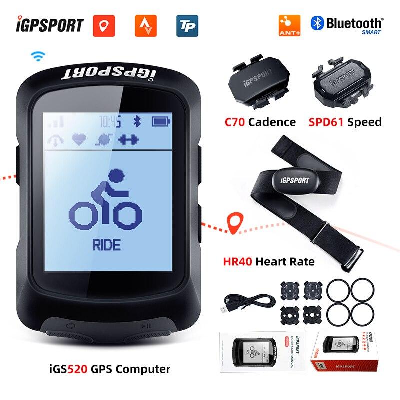 I GPS-порт IGS520 велосипедный Компьютер Водонепроницаемый IPX7 ANT + беспроводной Велосипедный Спидометр Bluetooth GPS Cycing одометр с датчиками