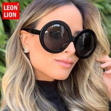 LeonLion 2019 Round Oversized Sunglasses Women Oval Sunglasses Women/Men Vintage Glasses for Women Luxury Oculos De Sol Gafas