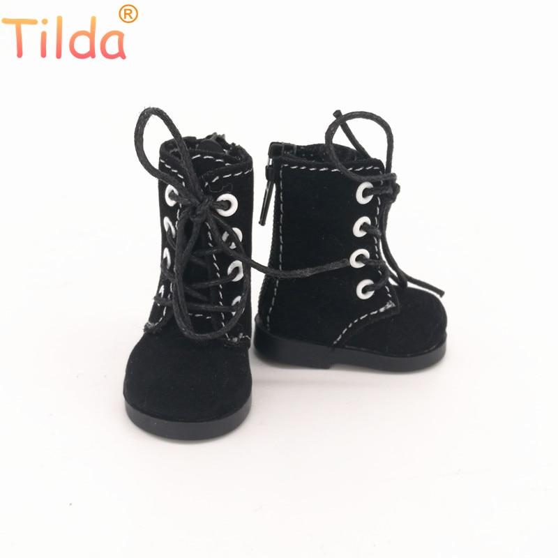 Tilda 5cm zapatos para muñecas BJD juguete botas casuales 1/6 Retro zapatos para EXO 20cm k-pop coreano muñecos de peluche accesorios para muñeca de juguete