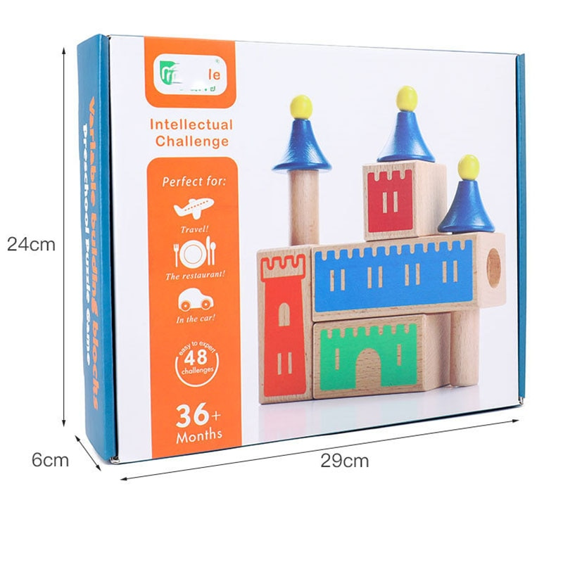 Wooden Variety Castle Children's Educational Games Early Childhood Interactive Early Education Wooden Jigsaw Toys Early Educatio  - buy with discount