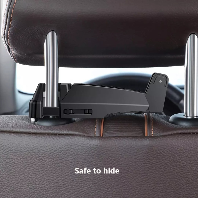 Youpin Car Phone Holder Back Seat Hook For IPhone Xiaomi Huawei 4.0-6.5 Inch Universal Car Mount Holder Fastener Headrest Hooks enlarge