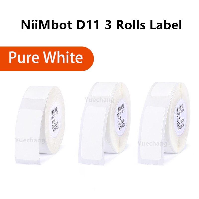 Купите 2 получите скидку 15% беспроводной портативный карманный принтер для этикеток Niimbot D11 Bluetooth термопринтер быстрая печать Бесплатная дос...