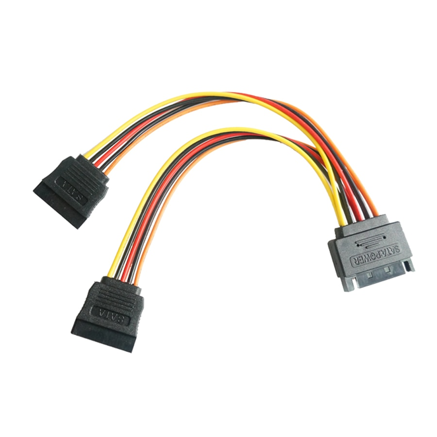 sata15pin male serial to 15pin ide molex female 4pin sata female power adapter cable 90 degrees Sata15Pin Power Adapter Cable, SATA 15 Pin Male to SATA 15Pin Female Power Y-Splitter Extension Cable