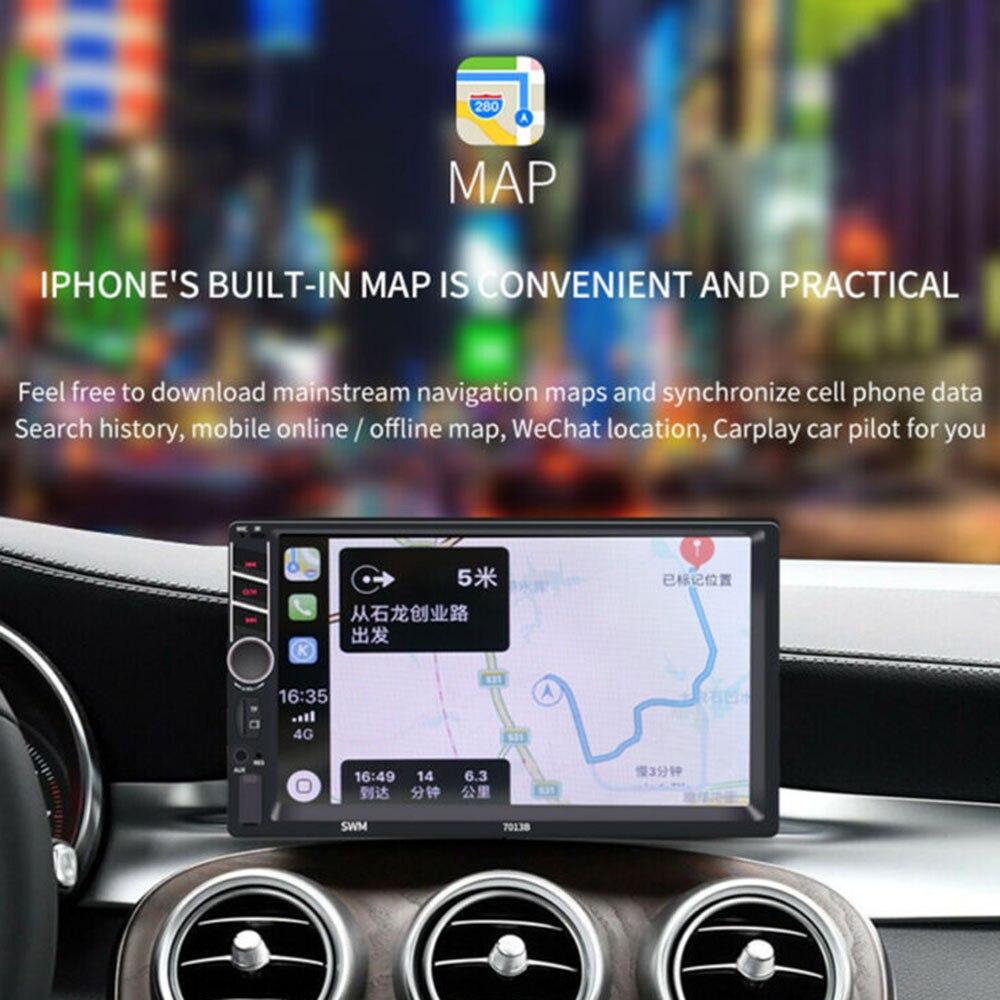 """2 Din Carplay Car Radio Bluetooth Android Auto 7 """"Pantalla táctil reproductor de vídeo MP5 USB TF iso estéreo Sistema de unidad central para Apple"""