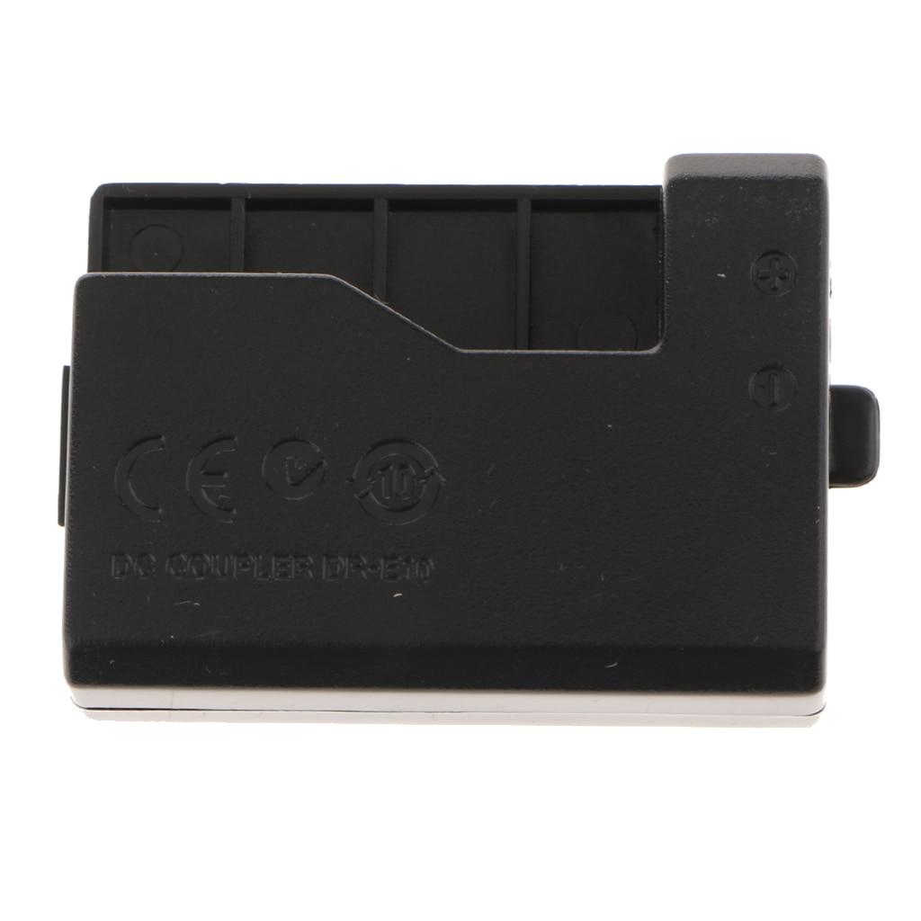 DR-E10 DC Coupler Replacement LP-E10 Dummy Battery Compatible with 1100D 1200D 1300D Digital Cameras