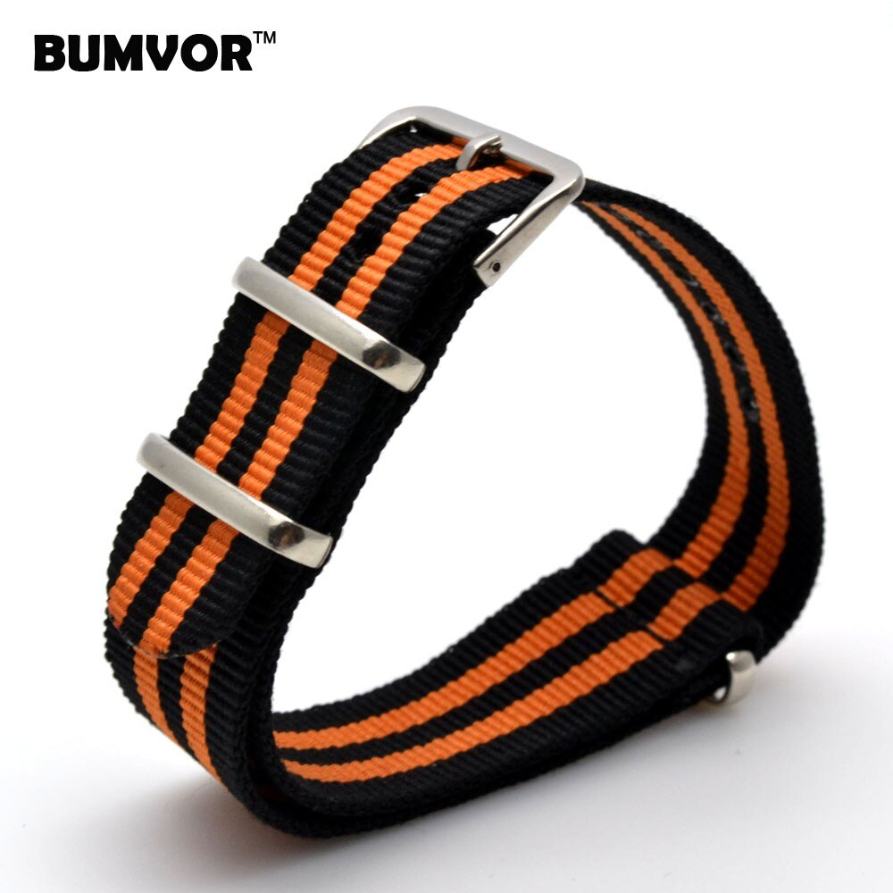 BUMVOR 18mm #00-25 Brand Army Sports nato fabric Nylon watchband accessories Bands Buckle belt Replaceable Strap for DW Watch