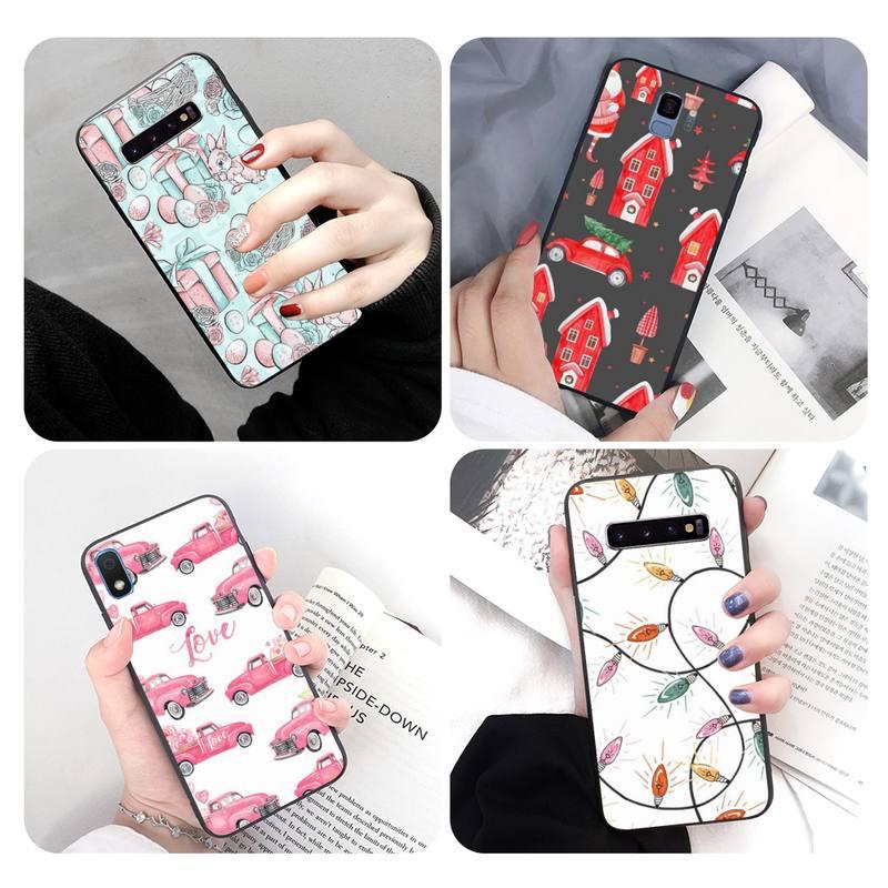 Funda de teléfono blanda con diseño festivo para Samsung A71, J2, J4, J5Prime, J6, J72017, note 5, 8, 9 y 10