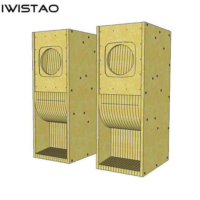 IWISTAO HIFI 8 بوصة مجموعة كاملة مكبر صوت فارغ أطقم خزانة 1 قطعة هيكل متاهة MDF من أجل مُضخّم صوت
