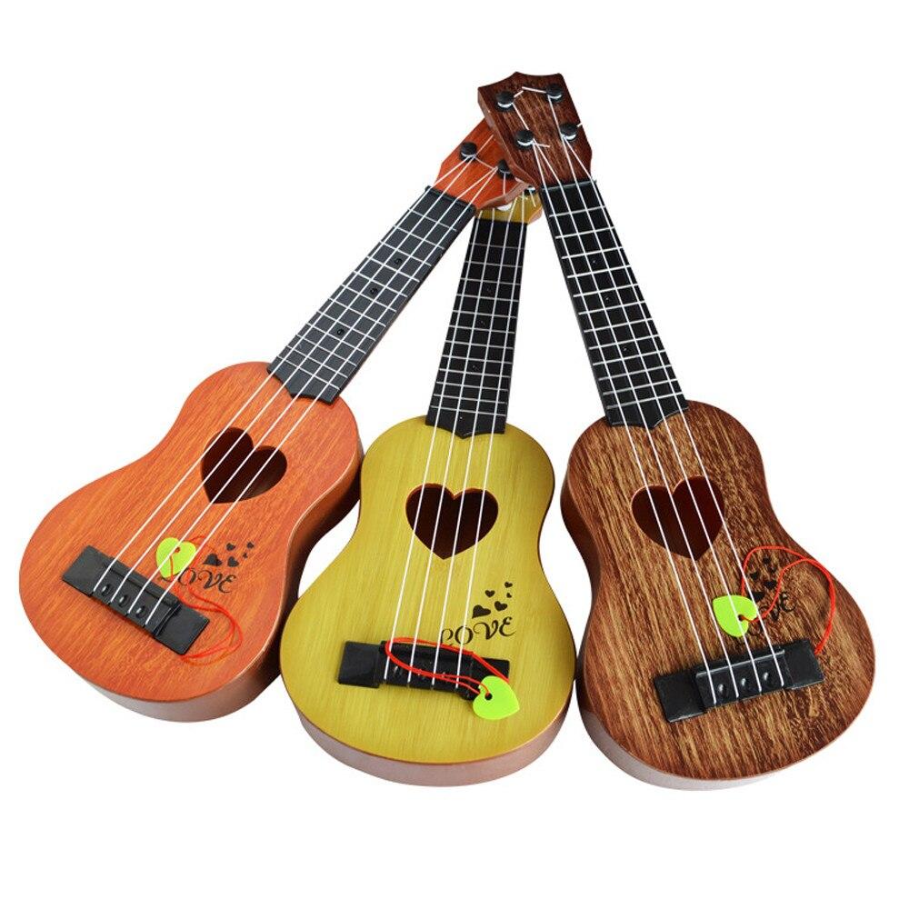 Мини-гитара для начинающих, Классическая, безопасная, простая, укулеле, 4 струны, обучающая, музыкальная, концертная игрушка для детей, рождественский подарок