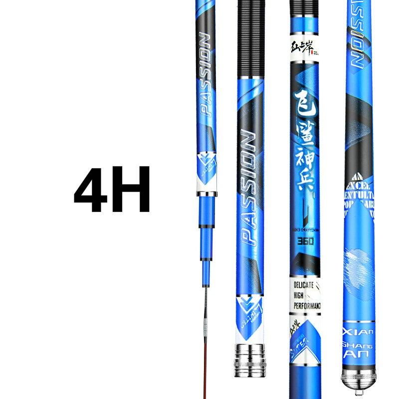 3.6M-8.1M Taiwan Fishing Rod 4H 5H Super Hard Hand Pole Carbon Fiber Telescopic Wedkarstwo Olta De Pesca Carp Sticks enlarge